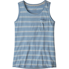 Patagonia Mainstay Tanktop Dames, pacific stripe/berlin blue